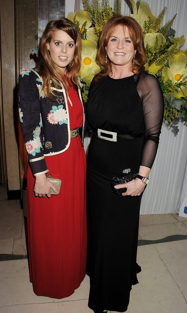 Princess Beatrice and Sarah Ferguson at the Marie Curie Cancer Care Fundraiser in London.