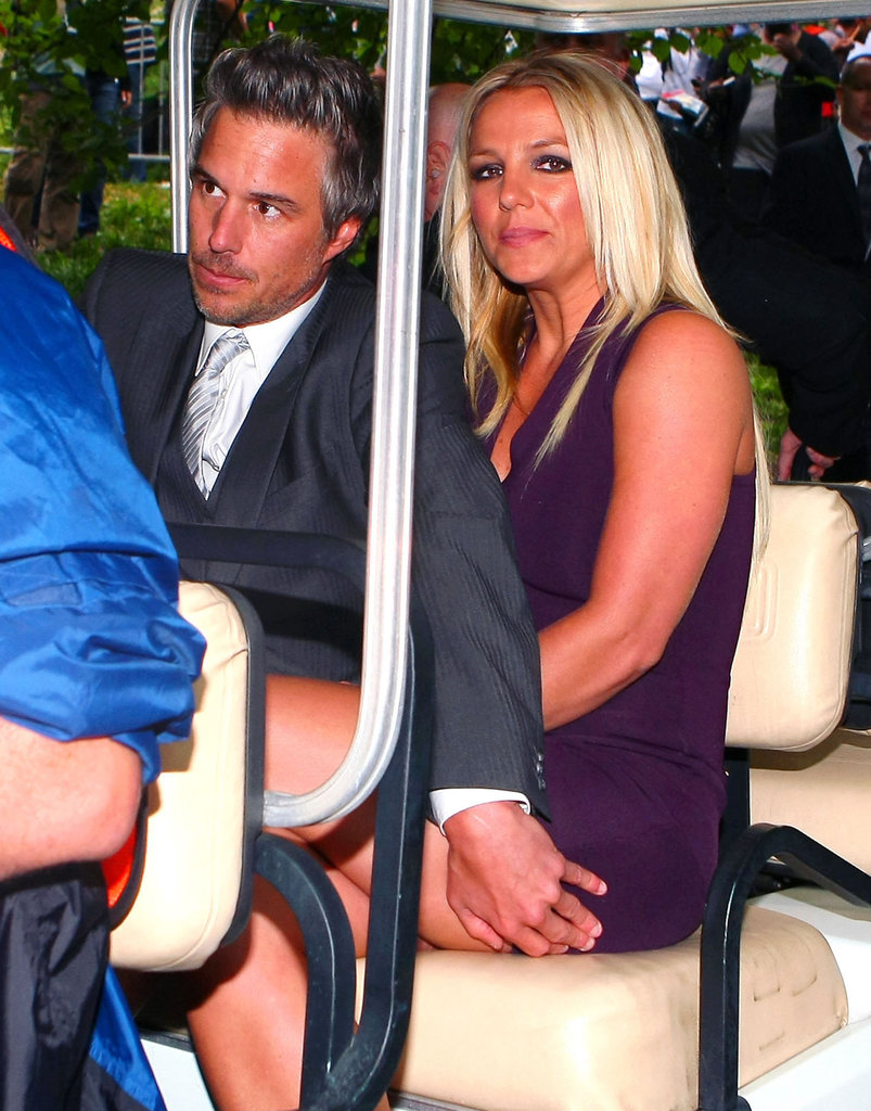 Britney Spears and Jason Trawick rode in a golf cart to the Fox Upfronts party in NYC.