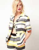 Wear this jacket to work with a silk blouse and black trousers.  ASOS AFRICA Stripe Jacket ($78)
