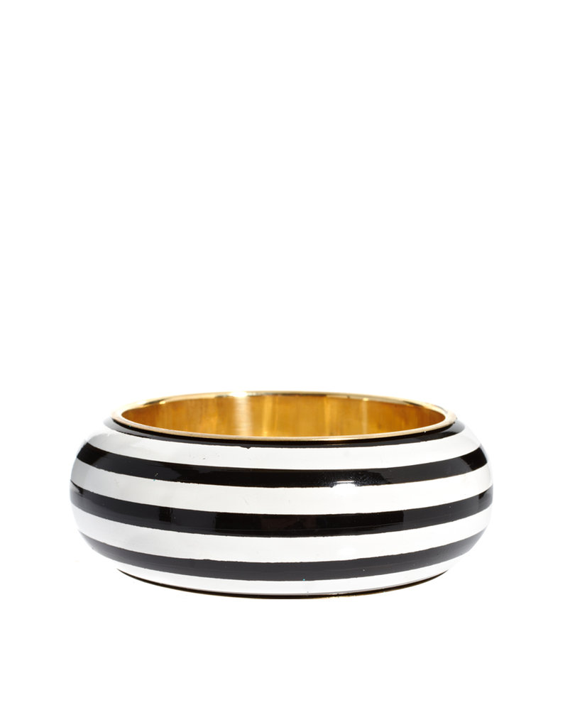 Make sure you stack this striped bangle with some other bold, colorful ones.  Oasis Wide Striped Bangle ($17)
