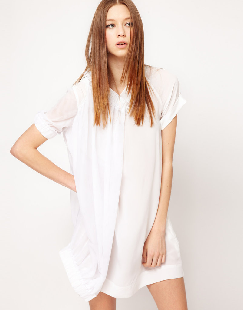 Asos Revive Silk And Mesh Shirt Dress ($148)