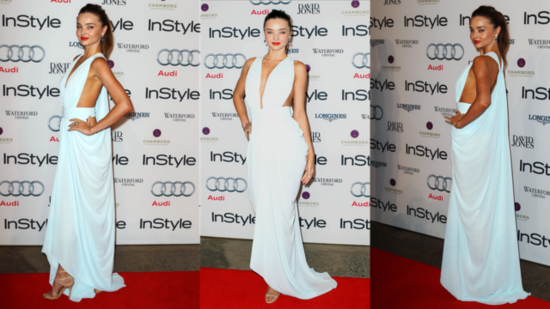 Miranda Kerr Wows Down Under in Pastel Blue