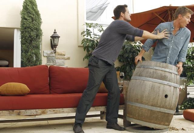 Josh Hopkins and Brian Van Holt on Cougar Town. Photo copyright 2012 ABC, Inc.