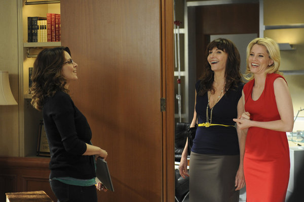 Tina Fey, Mary Steenburgen, and Elizabeth Banks on 30 Rock. Photo courtesy of NBC