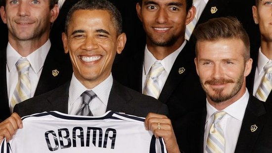 "Video: President Obama Pokes Fun at ""Old"" David Beckham"