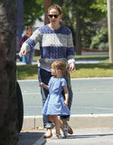 Jennifer Garner took Seraphina to an LA park.