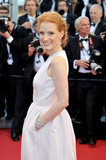 Pockets aside, we loved spotting this breathtaking diamond-encrusted cuff on Jessica Chastain's wrist.