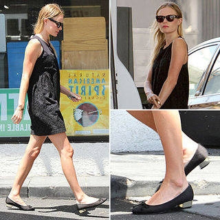 Kate Bosworth Black Dress and Ballet Flats
