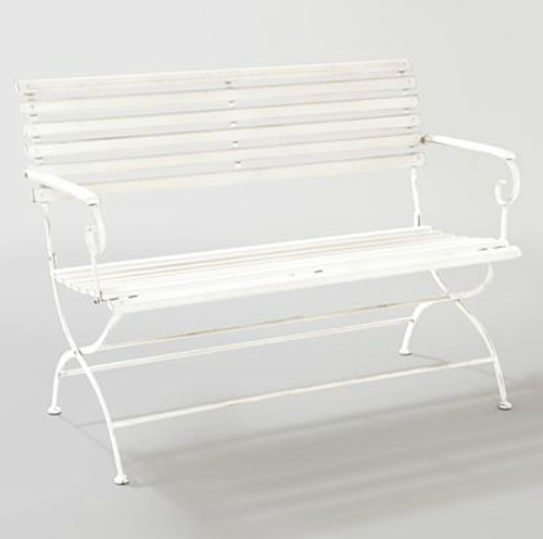 The Oyster Metal Bench ($75) has great retro appeal.