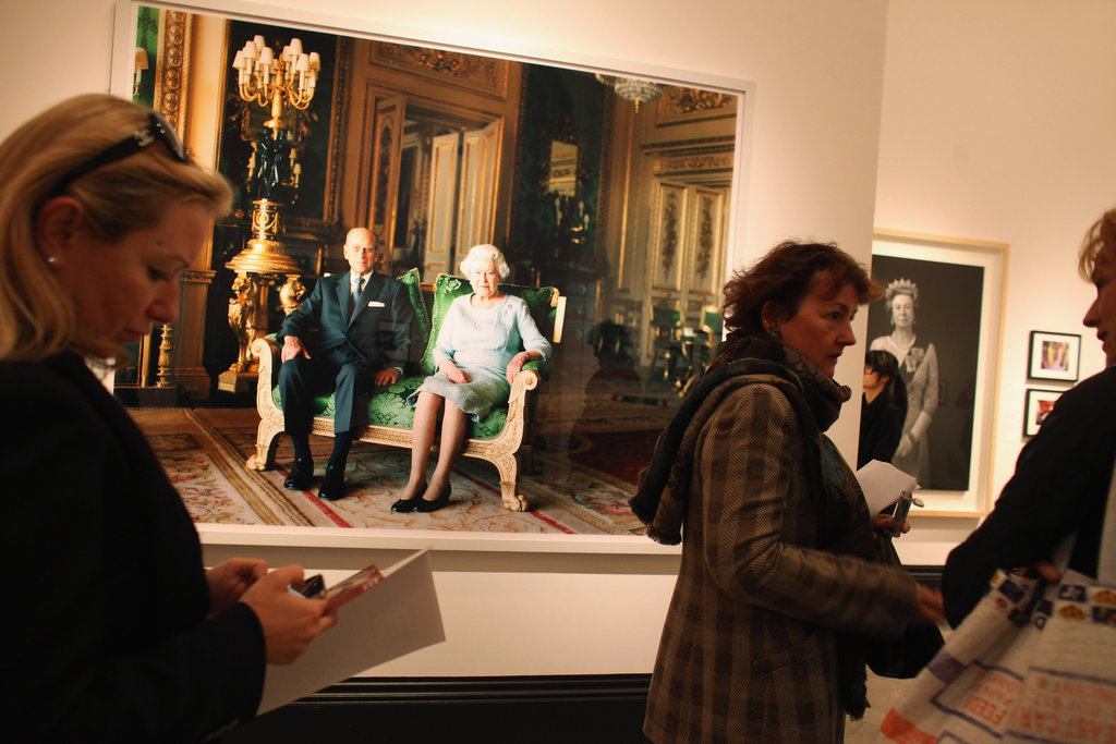 The exhibition features a wide range of images from the queen's 60-year reign.