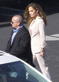 Jennifer Lopez suited up.
