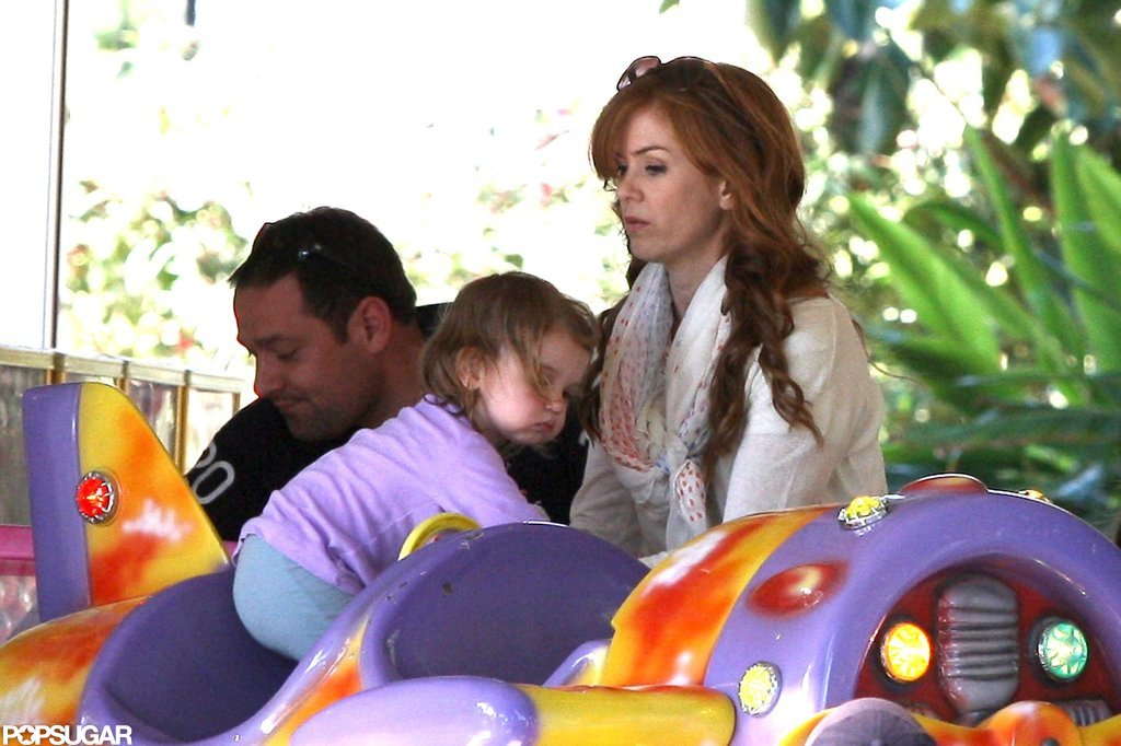 Isla Fisher kept an eye on daughter Elula Cohen.