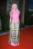 Mandy Moore went with a bright plaid look for the 1999 Billboard Music Awards.