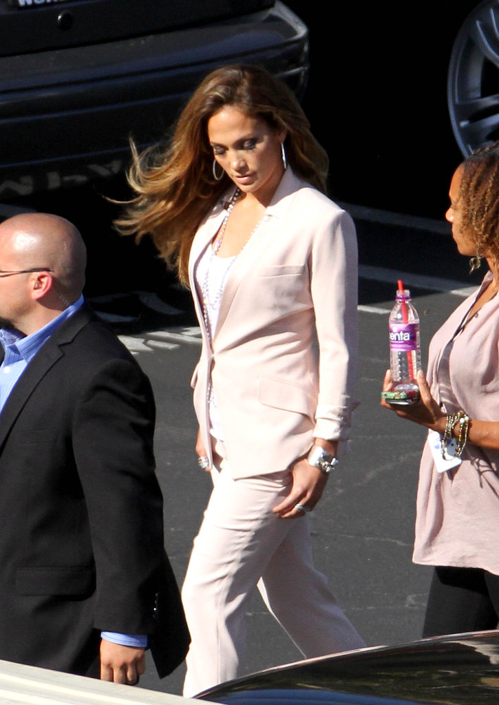 Jennifer Lopez hit the pavement.
