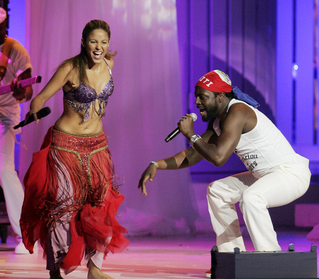 Shakira and Wyclef Jean shared the stage in 2006.