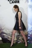 Kristen Stewart showed off her legs in a BCBG Max Azria minidress for the Snow White and the Huntsman photocall in Madrid.