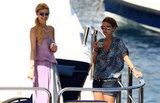 Paris and Nicky Hilton enjoyed the open water while in Portofino, Italy, in July 2010.