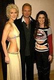 Celine Dion, Bono and Shania Twain got together for a backstage photo op in 2003.