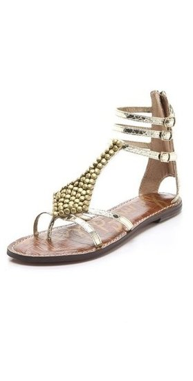 The metallic hues dress up these flats so they're just right for taking your look from day to evening out. Sam Edelman Ginger Studded Gladiator Sandals ($100)