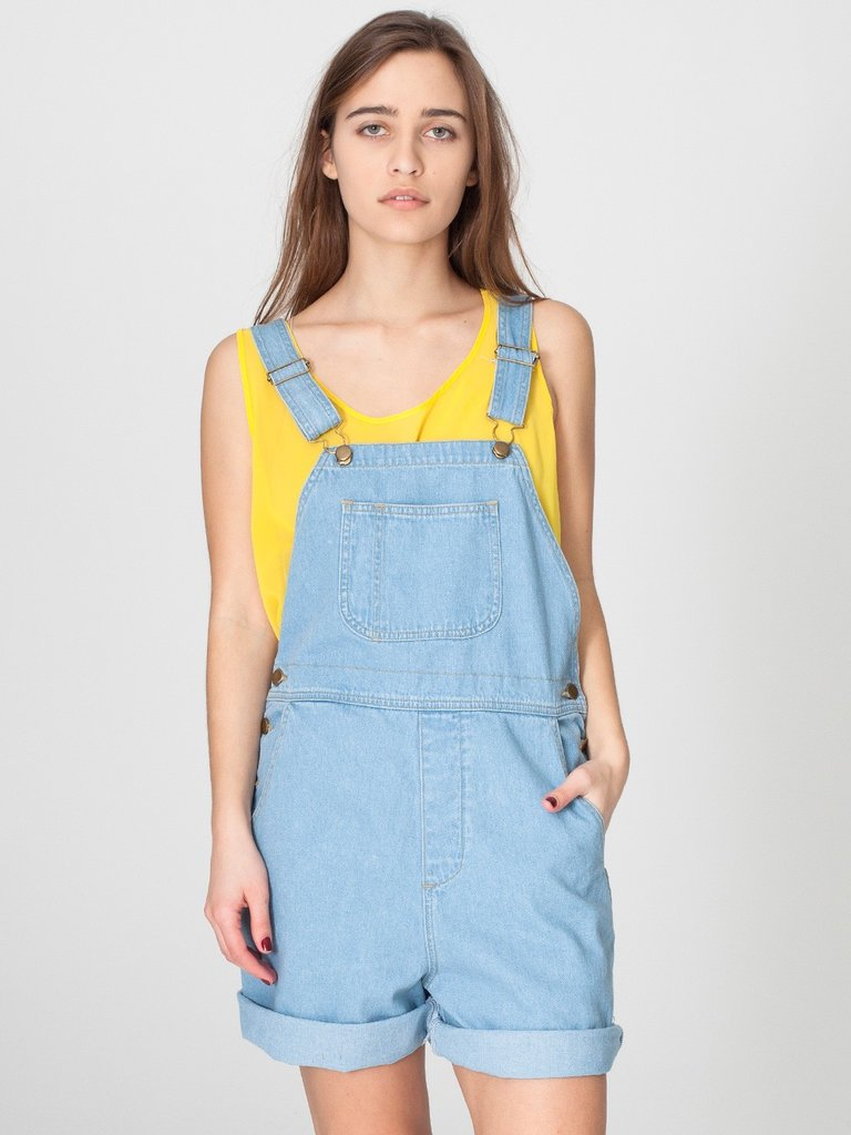 A simplified version to get you started — just add your favorite sandals and a bright tee to offset the light denim.  American Apparel Denim Short-All ($88)