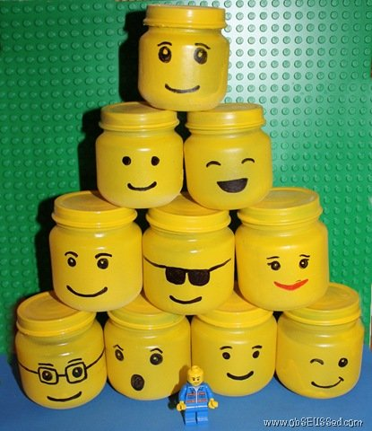 Upcycle Your Baby Food Jars Into Lego Storage Jars