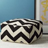 West Elm Zigzag Floor Pouf