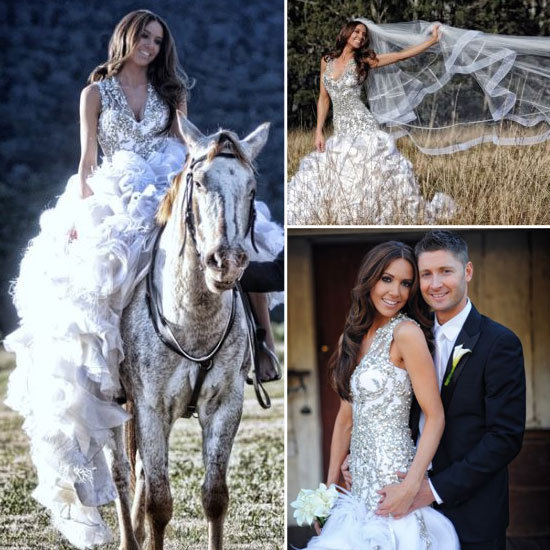 Kyly Boldy Weds Michael Clarke in Fairytale Alex Perry Gown: All the Dress Deets!