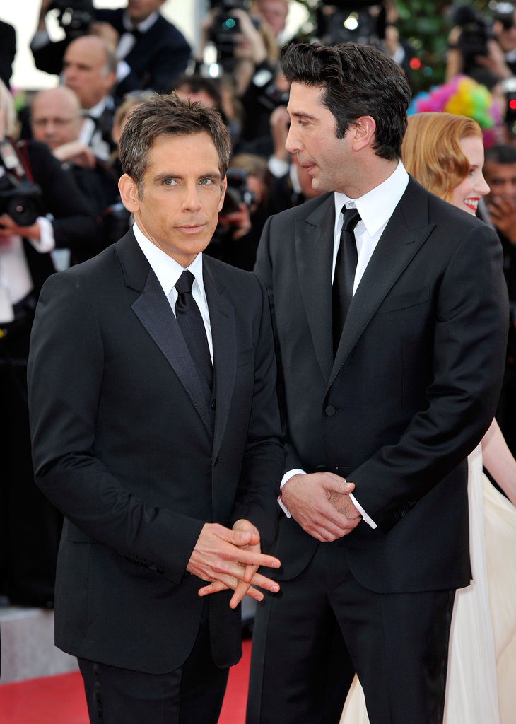 Ben Stiller and David Schwimmer both looked dapper in black at the premiere.