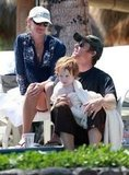 Julia Roberts and her family vacationed in Maui, Hawaii, in August 2008.