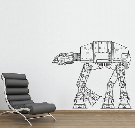 AT-AT Walker vinyl wall decal ($33)
