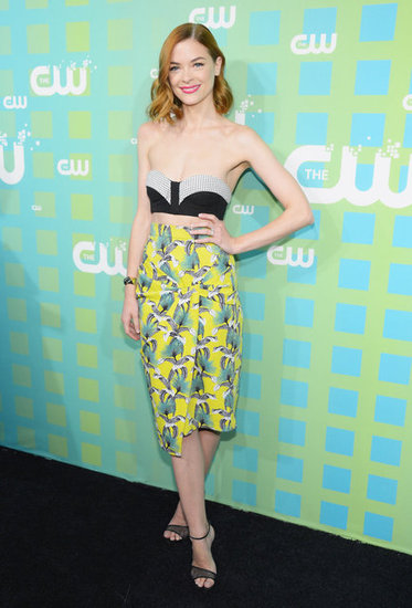 Jaime King wowed at CW's upfronts in a midriff-baring Proenza Schouler ensemble.