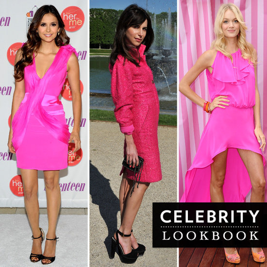 See how style-setting celebrities are bringing the heat in hot, hot pink.