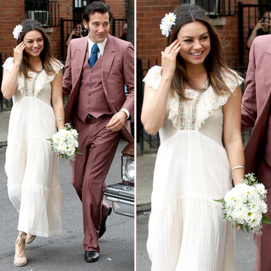 Shop the bohemian bridal attire inspired by Mila Kunis's Blood Ties wedding dress.