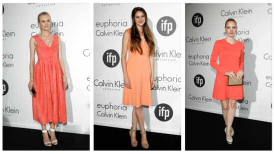 Coral Cocktail Frocks Rule at the Women in Film Party at Cannes Day Two