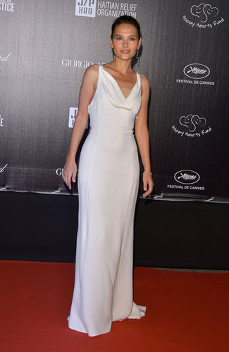 Virginie Ledoyen donned a slinky white gown for the Haiti: Carnival benefit.