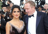 François-Henri Pinault kept his eyes on wife Salma.