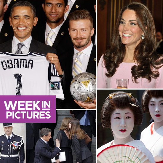 Obama Hangs With the LA Galaxy, The Duchess Has a Perfect Spot, and The New French President Moves In