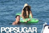 Channing Tatum and Jenna Dewan floated in the water together during a July 2010 Italian getaway.