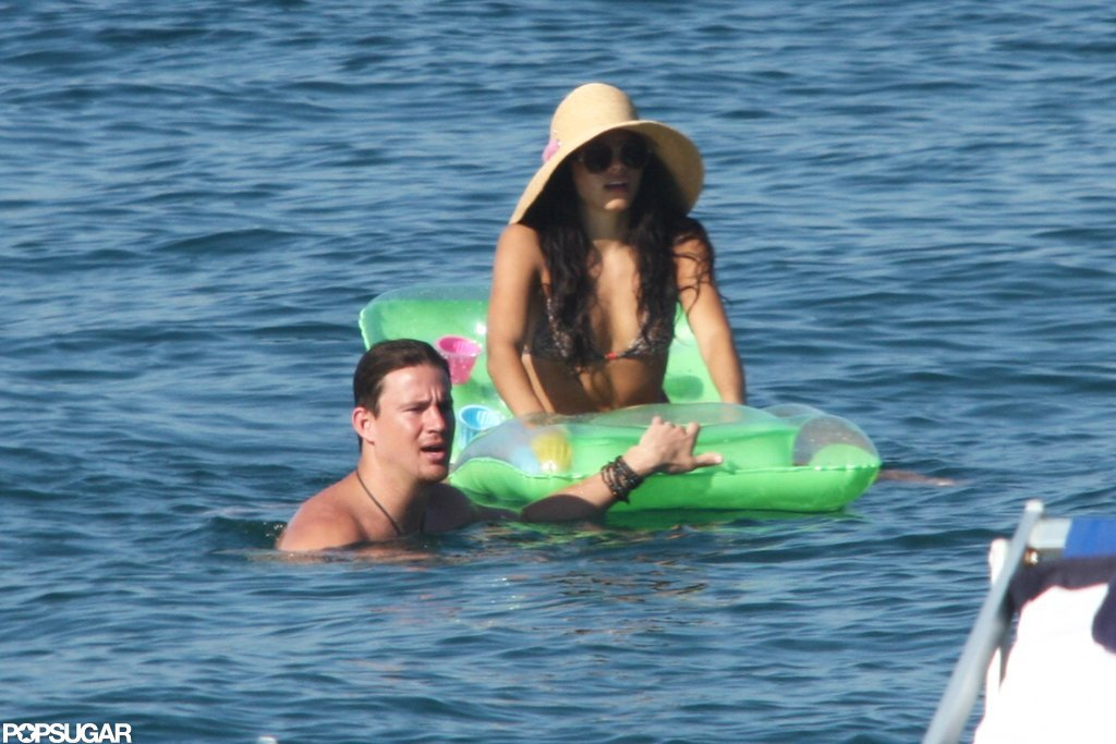 Channing Tatum and Jenna Dewan evened out their tans during a July 2010 Italian getaway.
