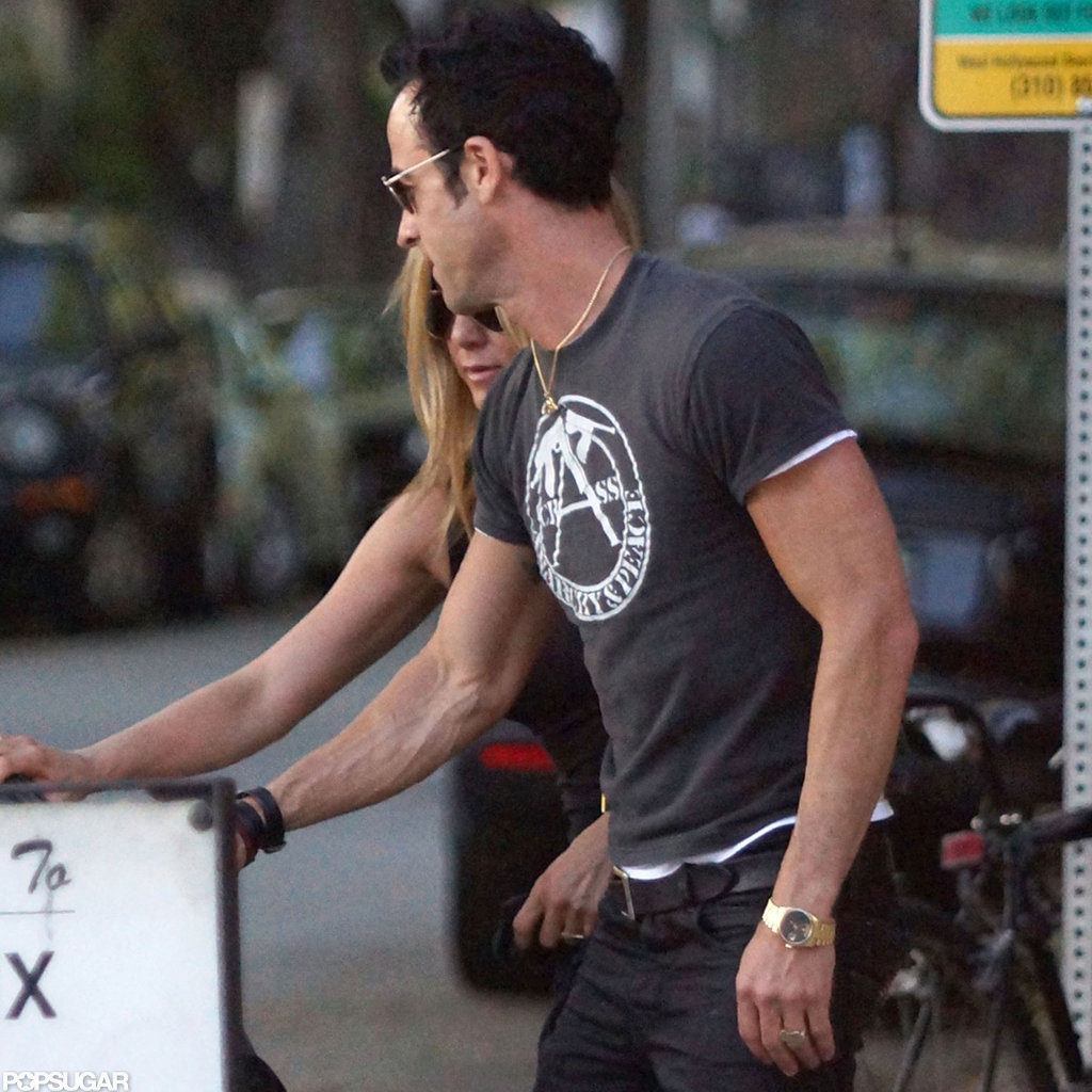 Jennifer Aniston and Justin Theroux had a date night in LA.