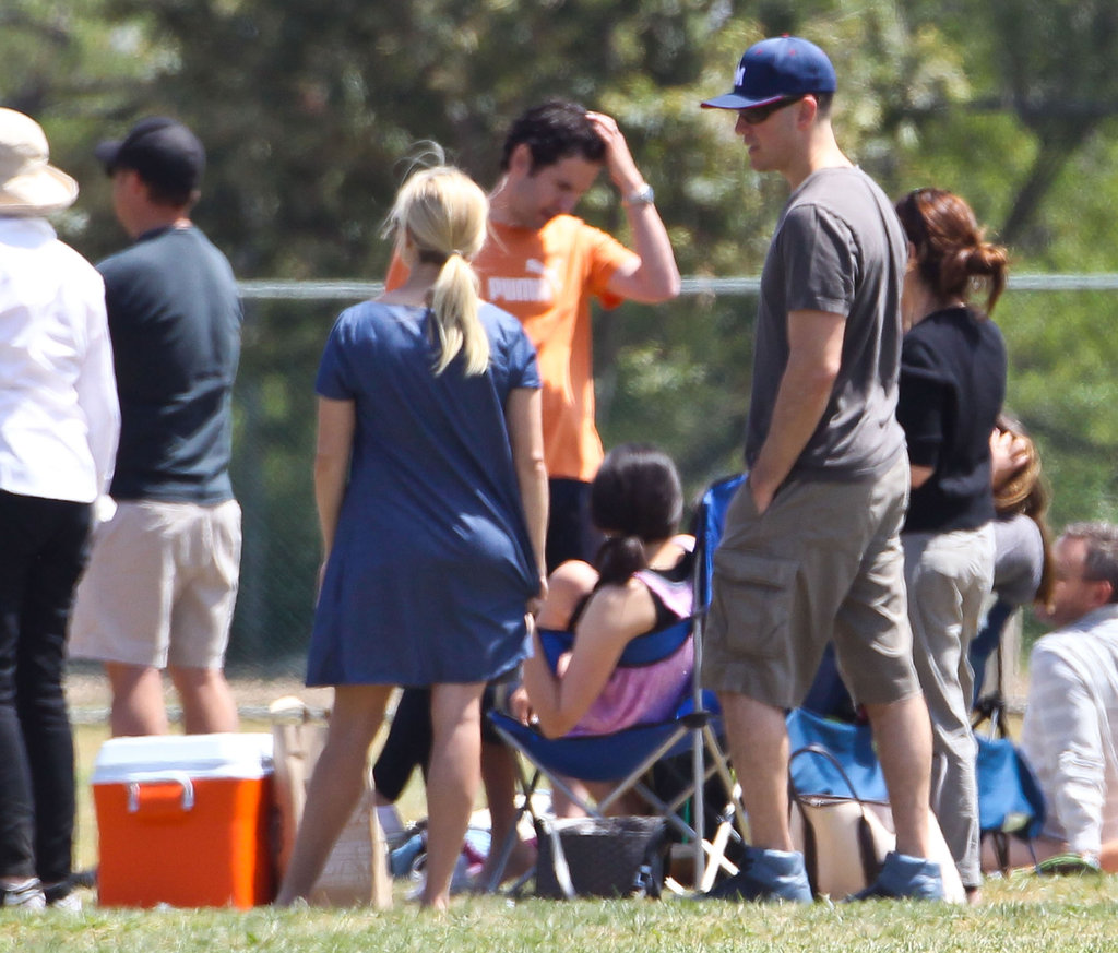 Pregnant Reese Witherspoon Hits the Sidelines With Her Husband Jim