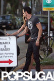 Jennifer Aniston and Justin Theroux returned to their car after dinner.