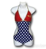 The Wonder Woman Triangle Monokini Swimsuit ($48) is perfect for a Fourth of July party.