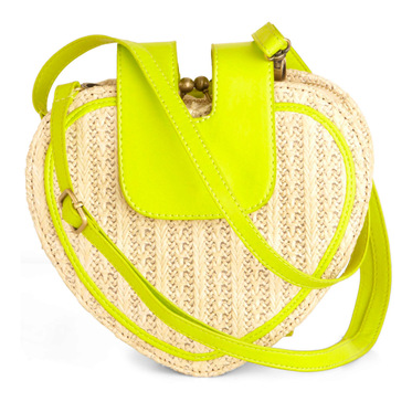 Tuck in the straps for a sweet picnic-basket-inspired tote that you can even add to your cocktail dresses.  ModCloth Eon of Neon Bag ($63)