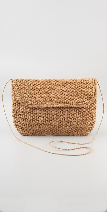 The simplest kind of woven clutch still lends an easy Summer appeal to your outfits.  Bop Basics Oversized Popcorn Clutch ($78)