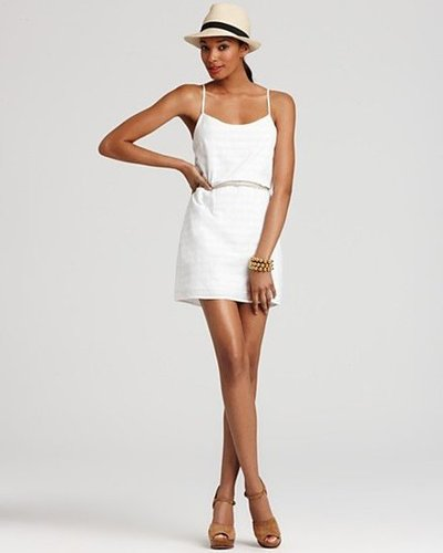Here's the perfect LWD for an afternoon beach party. Toss it over your swimsuit and finish with a pair of espadrilles for effortlessly pretty party dressing.  Volcom Festivus Dress ($45)