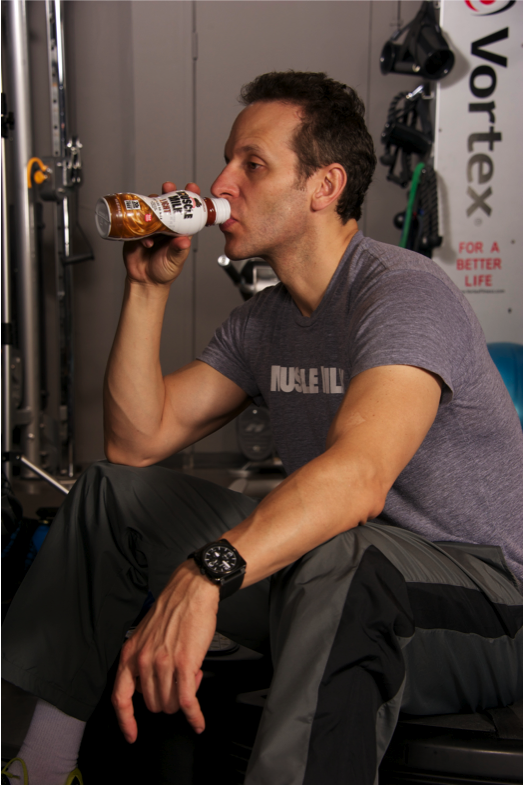 Don't forget to refuel after your workout with a Muscle Milk Light — packed with 20 grams of protein, 20 essential vitamins and minerals, and only 160 calories; this delicious protein-packed beverage will help your muscles recover and provide your body with sustained energy to stay on top of your fitness game. Learn more about Muscle Milk here.