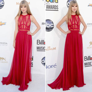 Pictures of Taylor Swift in Red Lace Elie Saab on the Red Carpet for the 2012 Billboard Music Awards: Thoughts?