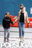 Sarah Jessica Parker and James Wilkie Broderick held hands in NYC.