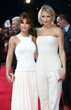 Cameron Diaz and Cheryl Cole both wore white to the What to Expect When You're Expecting premiere in London.